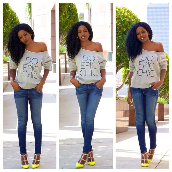 Love this casual look paired with the citrus lime heels on @stylepantry . #Folake always slays! #CitrusStyle #CitrusLife #StylePantry #Folake