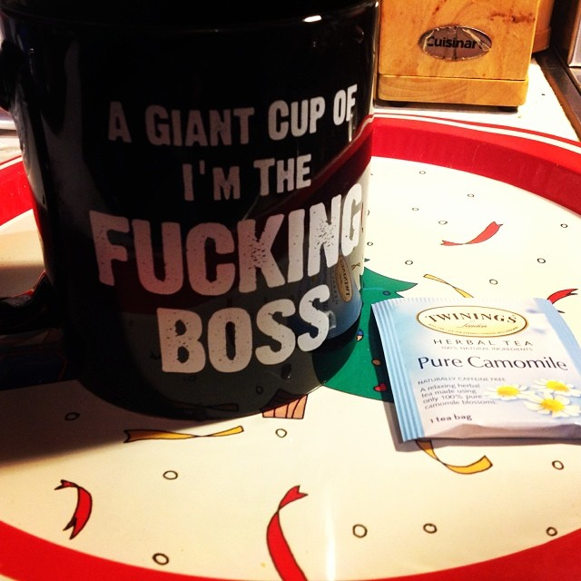 Love this cool #mug that my friend Adam gave to me as a Christmas Gift. #awesome. #happyholidays #Boss #TeaTime #merrychristmas #livehappily #connect