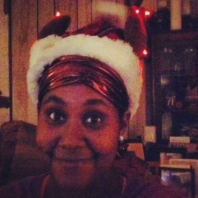 These antlers on this hat light up and play #GrandmaGotRunOverByAReindeer #happyholidays #livehappily #thecitruslife