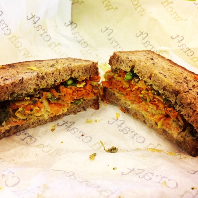 @wichcraft chickpea hummus sandwich. Yummers! #rhopenhouse and look how beautiful!