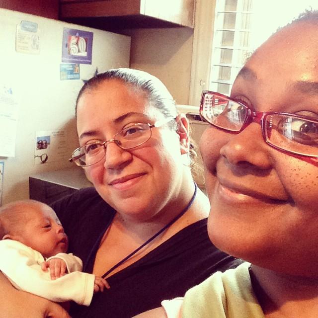 I got visitors! Missed my mush mush! #auntiesrock #newborns #preemies #preemie #livehappily #thecitruslife