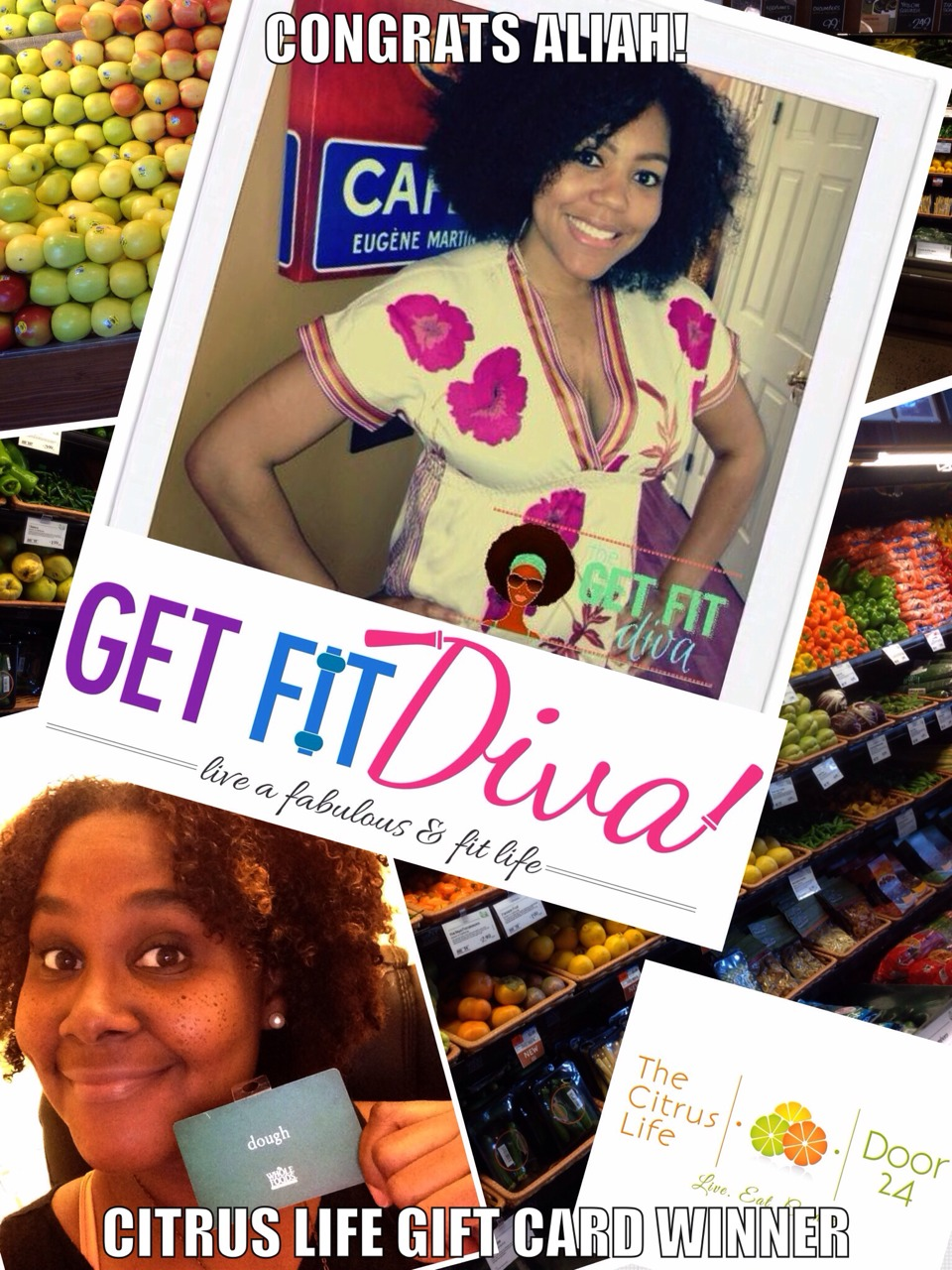 Congrats Aliah on winning The Citrus Life Halloween Whole Foods Gift Card Giveaway! Thanks for your participation and feedback. Check out Aliah on her FB page at Chronicles of a (Trying To Be) Fit Diva, online at Thegetfitdiva.com, aliahpr.com, and thisdivatravels.com. Happy Halloween!
