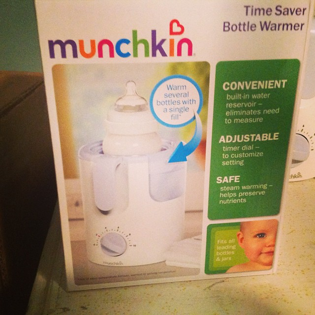 This is the best product ever! Much better than my sister's method of warming up bottles. #munchkinbottlewarmer #livehappily #newborns #preemies #thecitruslife