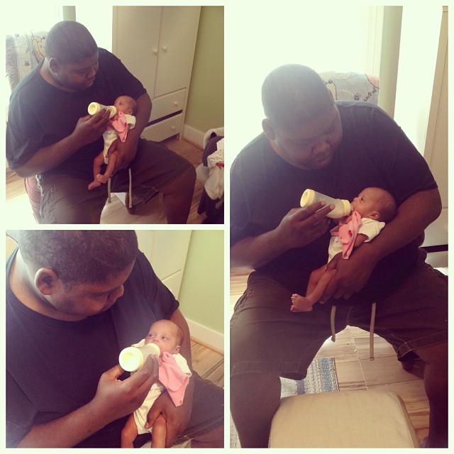 My booby and mush mush. He will make a great dad. @chocolateebeauty723 #newborns #preemies #livehappily #love #connect #thecitruslife