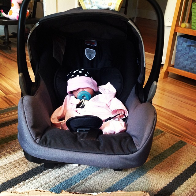 And…..she sleeps. Thank God for rocking car seats, rocking chairs, and rocking everything! #preemies #newborns #livehappily #thecitruslife