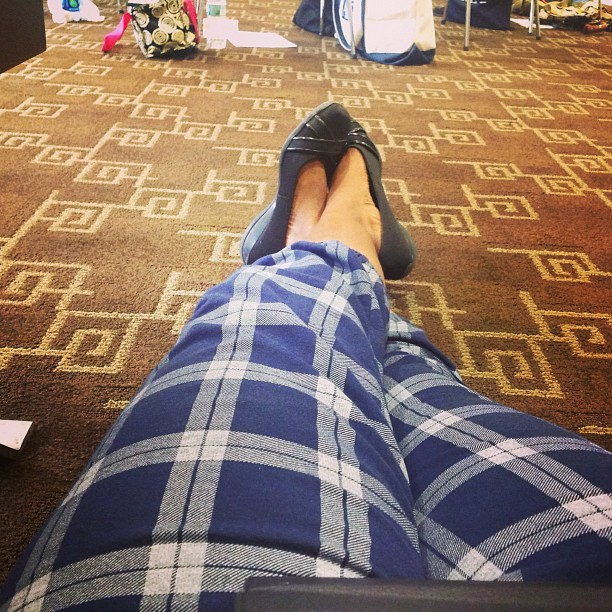 This was me feeling blah and relaxing on the carpet of our group meeting. #Sick