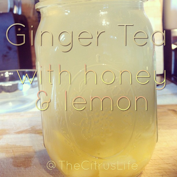 I adore this ginger tea recipe and have it twice a day. Wanna learn how to make it? #keepitfresh #gingertea #ginger #honey #meyerlemon
