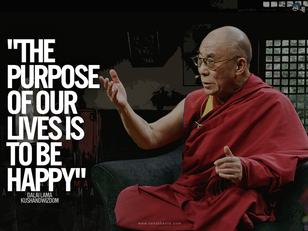 The purpose of our lives is to be happy. -Dalai Lama #LiveEatConnect