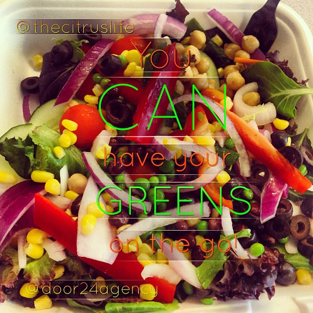 You CAN have your greens on the go! #keepitfresh #citruslife #Greens #door24agency