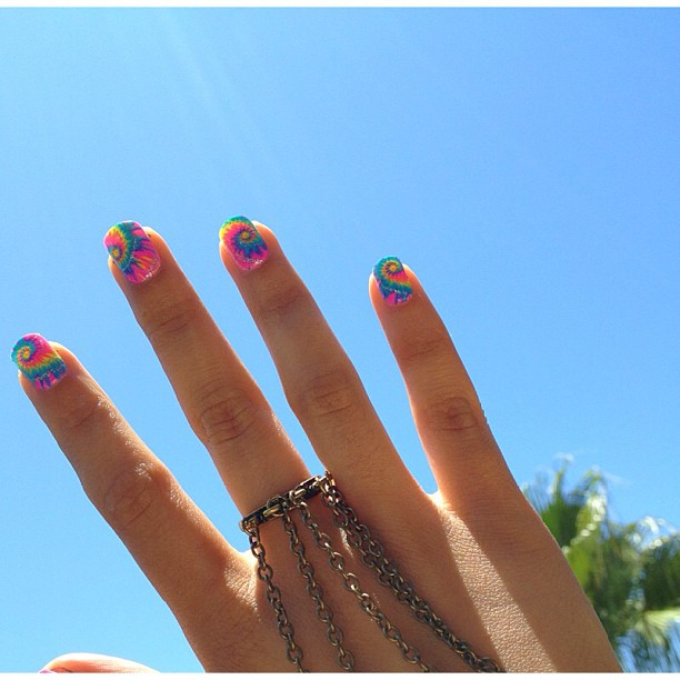 In LOVE with this nail design from @andreaschoice #CitrusStyle