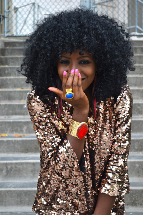 Gotta have @stylepantry Folaki's cocoa-brown sugared sequin jacket. AH-MAZING.
