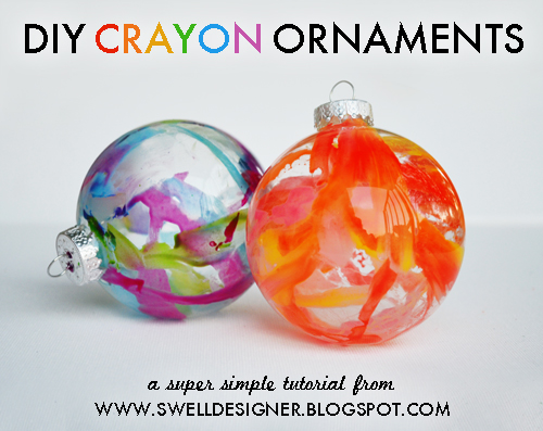 This seemed super easy and super fun. DIY Crayon Ornaments. Perfect for Holiday Kid Projects. Check it out and Subscribe to our newsletter! Subscribe to The Citrus Life Newsletter! diychristmascrafts: DIY Melted Crayon Ornaments Tutorial from The Swell Life here.So easy and I think this would be so much fun to do.