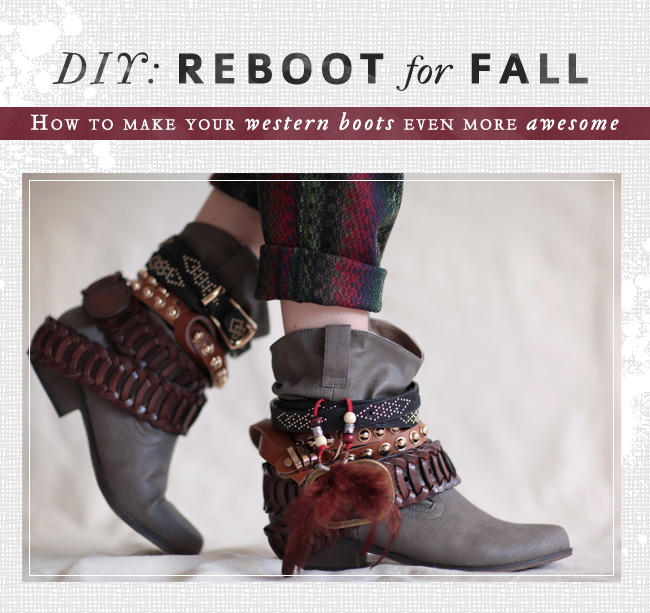 threadsence: DIY: How to make your western boots even more awesome!