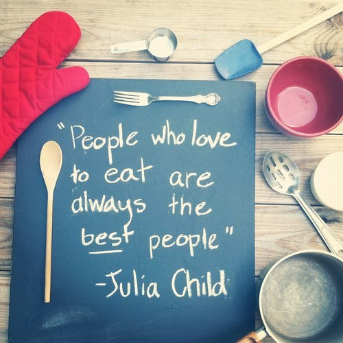People who love to eat…