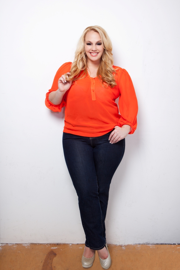 Love this bright Pumpkin blouse from: http://plussizewomenarebeautiful.tumblr.com/post/31035156234