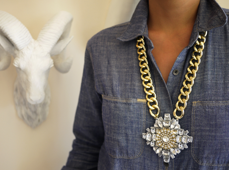 what-do-i-wear: DIY Crystal Pendant Necklace (image: honestlywtf)