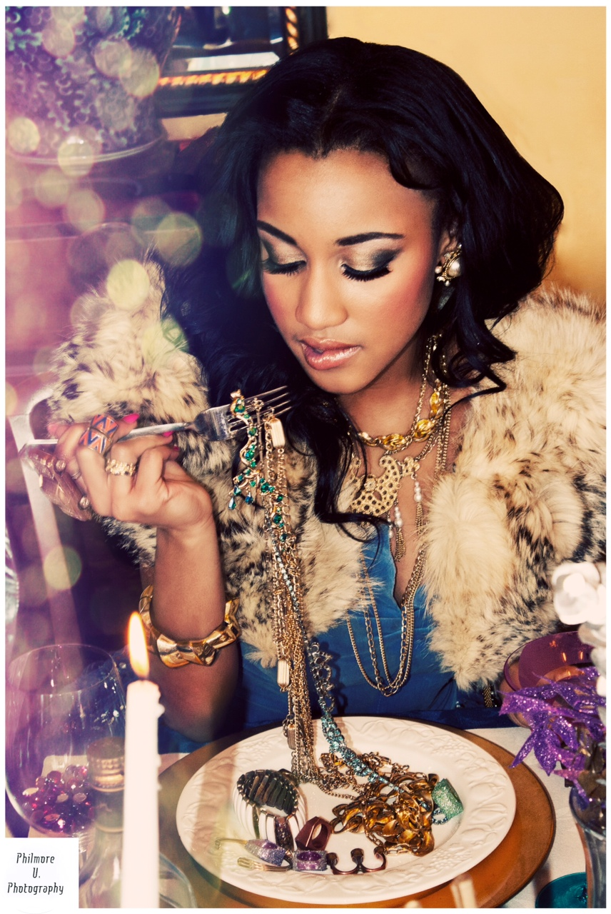 Let them eat….Jewelry! Love this. Super Glam