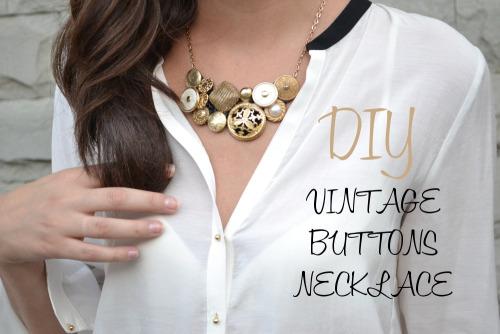 kraftykristin: I love this vintage DIY button necklace!(via DIY – vintage buttons necklace «Born in 82 – Fashion and Creativity Blog)