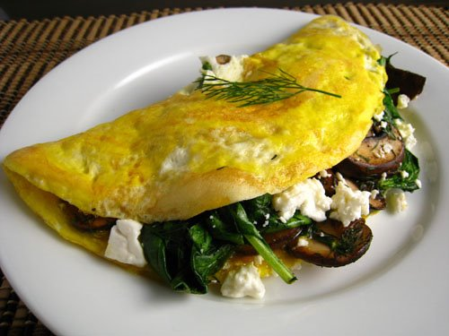 culinaryconnectors: CULINARY WORD OF THE DAY: Omelet; Omelette - A mixture of eggs, seasonings and sometimes water or milk, cooked in butter until firm and filled or topped with various fillings such as cheese, ham, mushrooms, onions, peppers, sausage and herbs. What's your all-time favorite filling(s)?