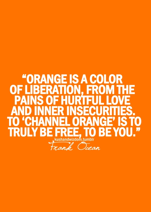 Orange is a color of Liberation