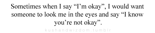 I'm okay. I'm not okay