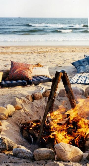 Comfy Bonfire on the beach. #CitrusLife