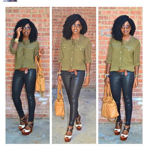 Folake Kuye Huntoon's style is crazy gorgeous. www.stylepantry.com@stylepantryShe has the best hair and style. #SteppingMyGameUp