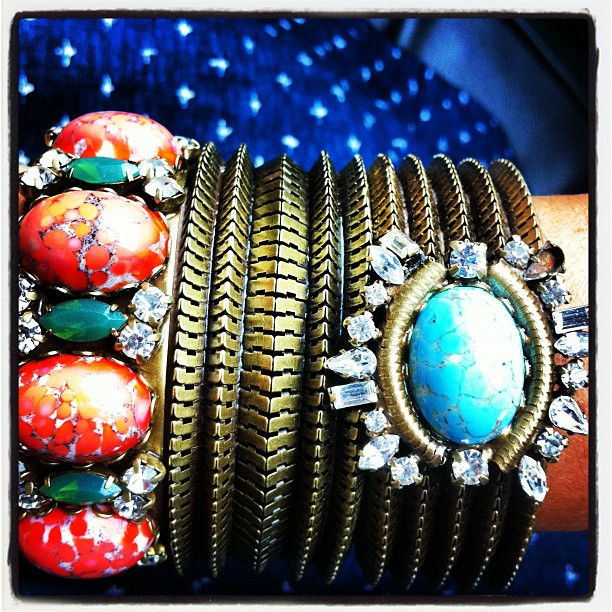Yay! More arm candy from…dannijo: Party time #DANNIJO #armparty @dannijo @manrepeller (Taken with Instagram)