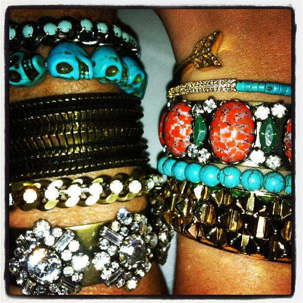 #ArmCandy dannijo: Texas ladies know how to party #armparty time @manrepeller @meredithcummings @dannijo @dannijoinsider @manrepeller (Taken with Instagram)