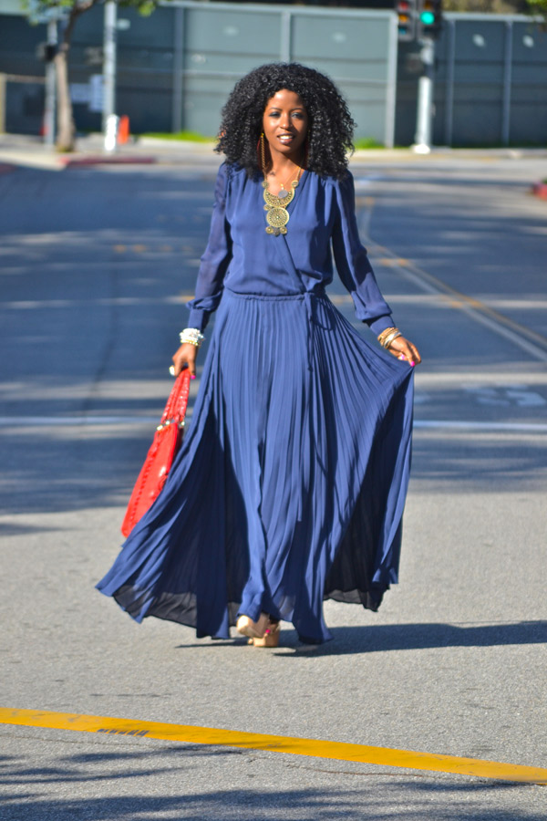 Summer is the season to be pleated. Everywhere I traipse in NYC, I see long, flowing pleats paired with light sweaters, airy blouses, and flirty tanks. Still apprehensive about taking the pleated plunge? The great thing about long or short pleats is that they dress up any outfit and can elevate your look making it easier to transition from work to an afterwork affair and even well into the late night. Happy Pleating.