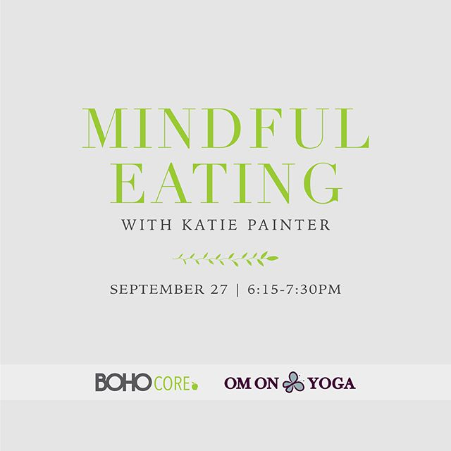 Learn how to uncover the thoughts, habits, and behaviors that keep you from meeting your health and wellness goals, then use your new mindfulness tools to help find the best plan for you. Join our nutrition coach, Katie Painter, for an in depth look at mindful eating. 🍏🥕🍳 Wednesday, September 27 | 6:15-7:30pm | $25/person ($20.00/person if participating in our 30 Ways to BOHO Challenge.) Location: Stir Crazy Cafe | 4015 MacAruther Ave. Richmond, VA 23227 Email info@bohocyclestudio.com to sign up. • • • • • #nutrition #health #food #mindfulness #wellness #spin #cycle #fitness #fitfam #exercise #motivation #fun #rva #spinhappy #instagood #lifestyle #workout #livebreatheboho