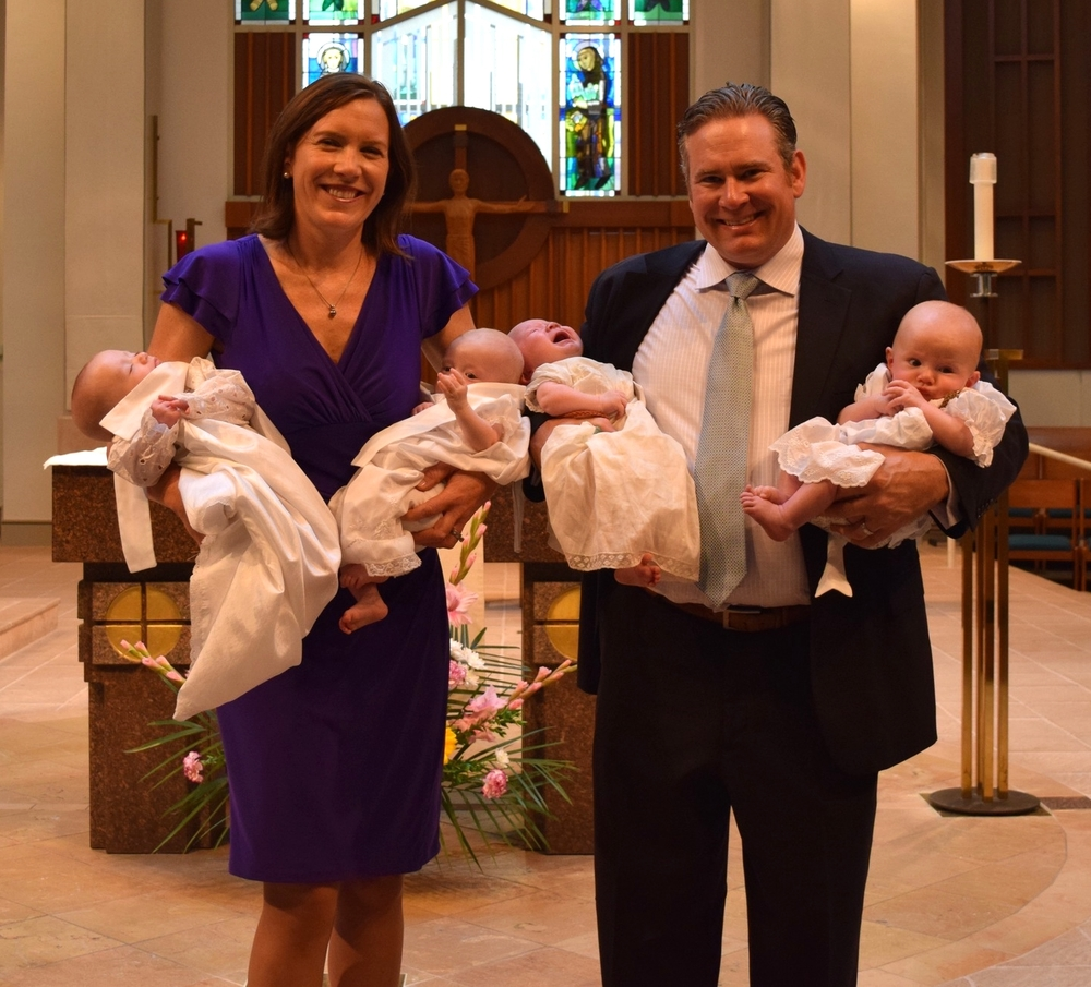 Charlie, Claire, Henry and Dillon on their baptism day May 14, 2016