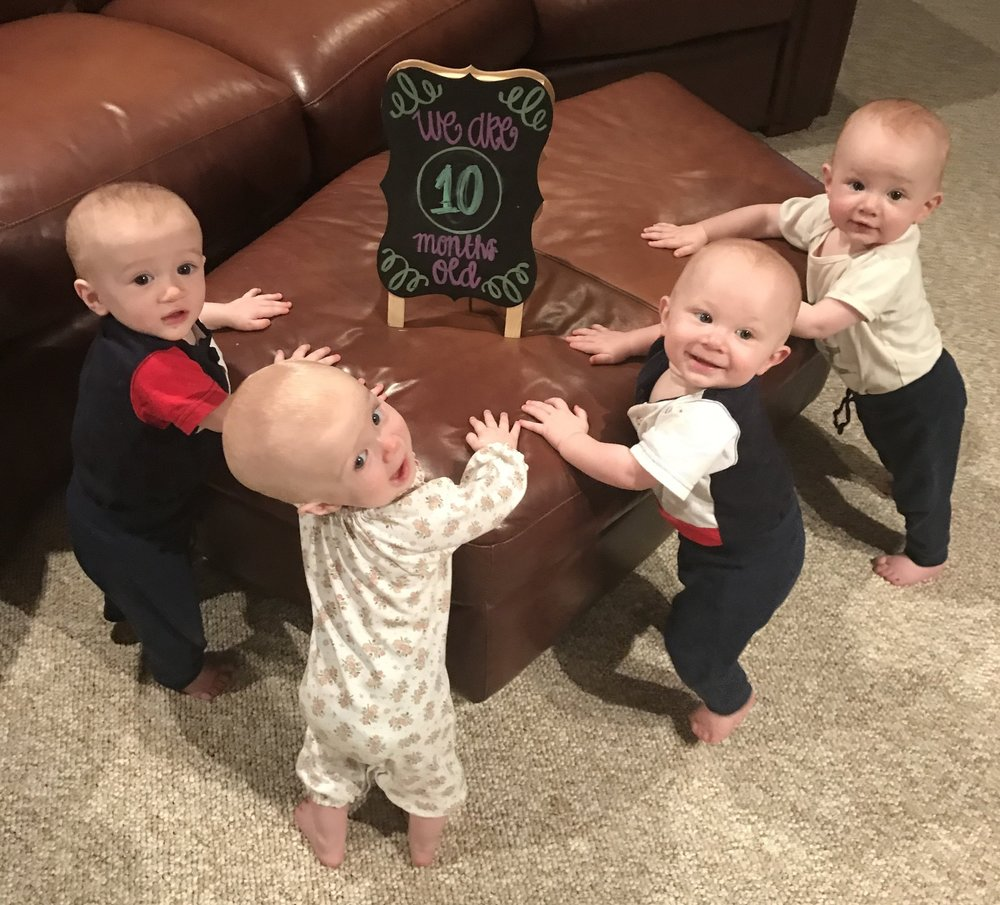 Charlie, Claire, Henry and Dillon at 10 months old - Austin, TX