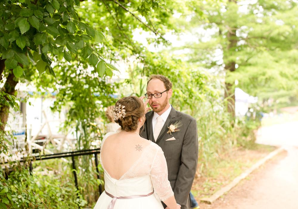 Lady Bird Lake Austin Wedding First Look