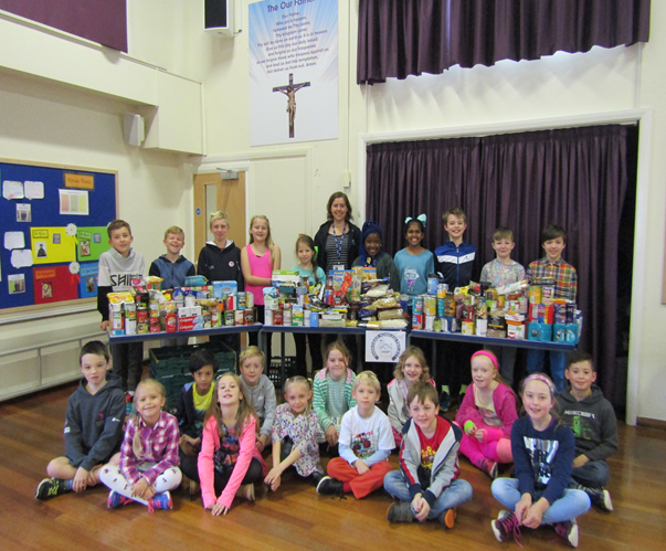 Harvest Festival Fundraising (Mini Vinnies & School Council)  October 19th 2017        A huge thank you from the Mini Vinnies and School Council for your non-perishable food donations for the Harrogate Homeless Project. We collected dry/tinned food for the charity who came to collect our harvest festival donations in Friday's celebration assembly. The charity is a house for the homeless to sleep and  eat . People pay £14 a week to stay there which helps them learn how to manage their money and pay bills. The charity also helps them find a permanent place to live. Our food donations will really help the people in need.  Thank you.