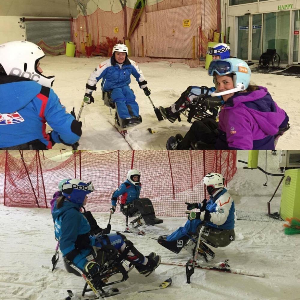 Slalom training at Snozone, Milton Keynes with Sean Rose