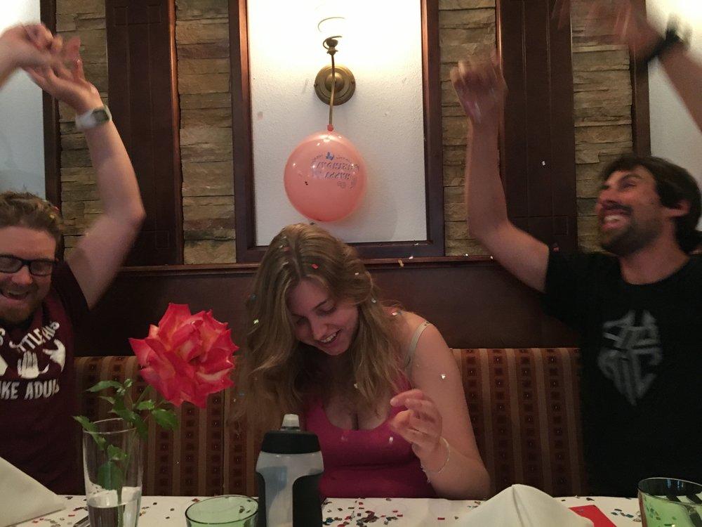 Celebrating a teammates birthday
