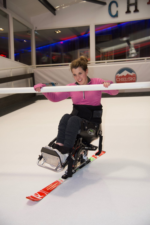 Me on my new Rossignol slalom ski at Chelski.