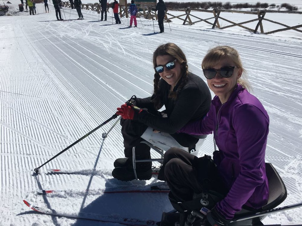 Beth and I cross-country skiing