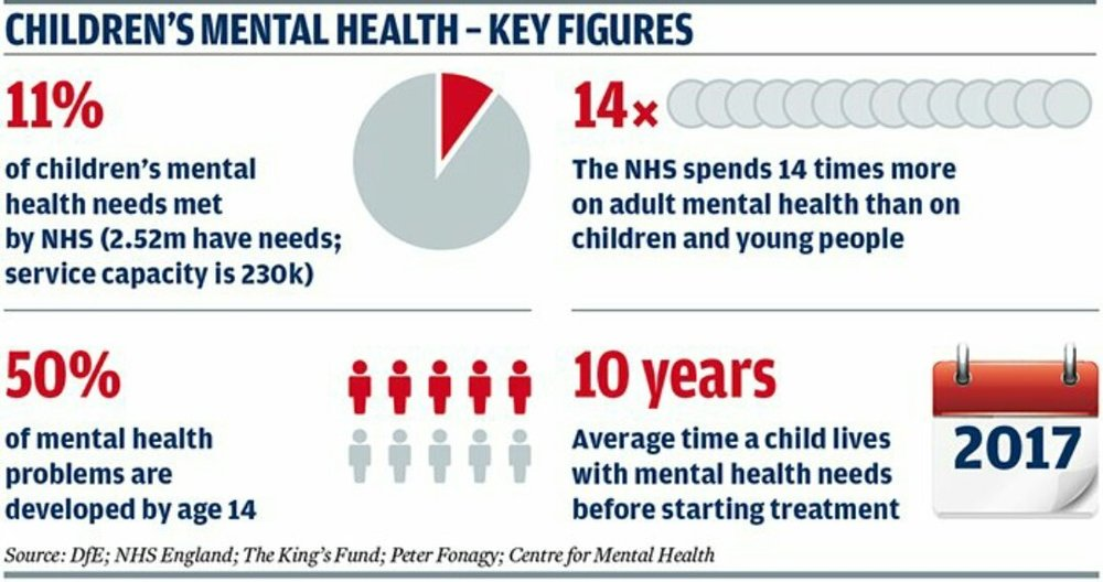 Figure 1: Key figures of the child mental health crisis