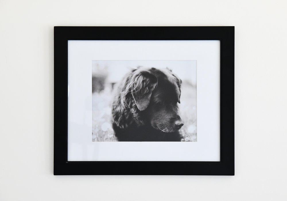 Framed art is available in many sizes. -