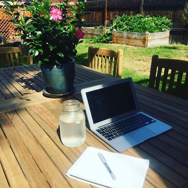 Writing Self-Retreat Day 1: Soaking in the Colorado sunshine and taking advantage of the precious gift of time and space to complete writing my restorative yoga book. Today is day one of a twelve day schedule to completion!