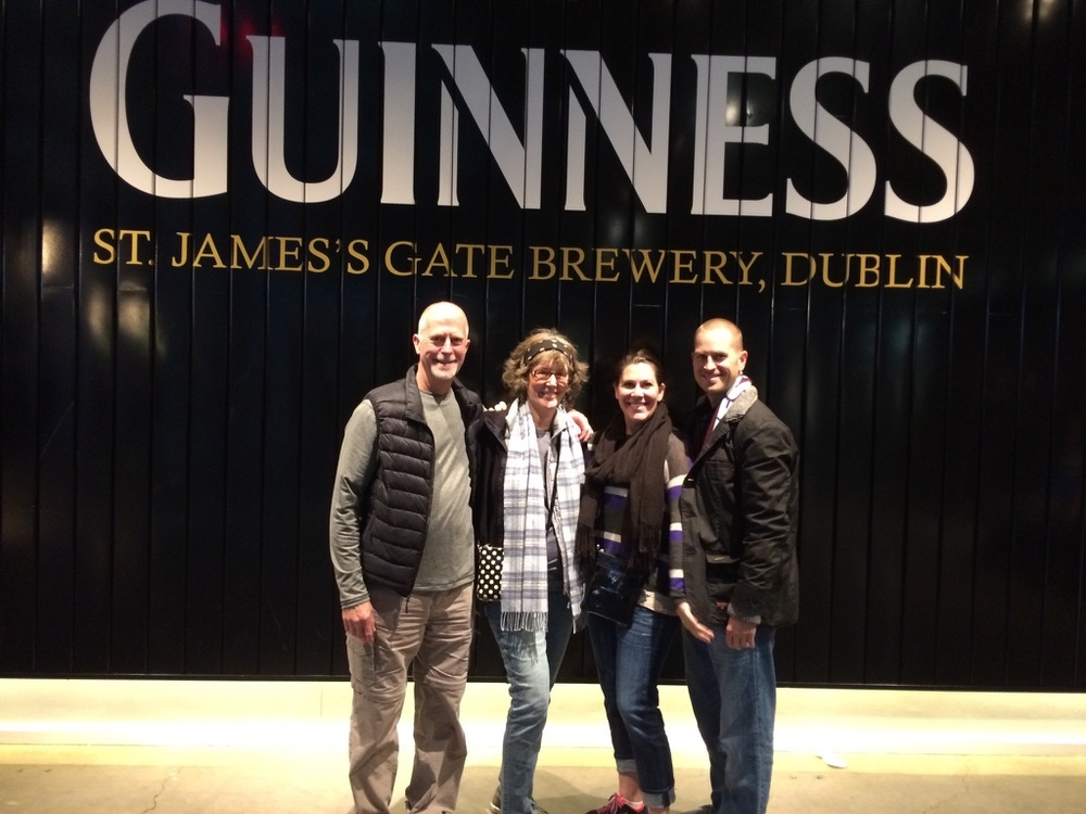 With the family in Dublin.  I found out that I love the taste of Guinness!