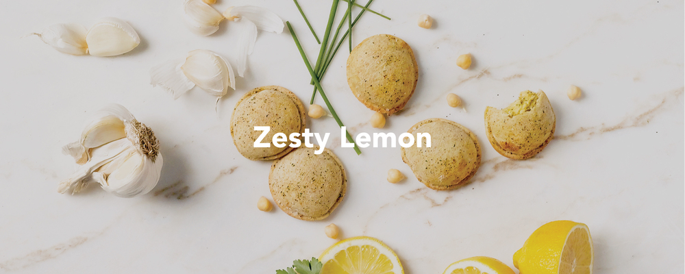 Zesty Lemon Hummus Pods. Delicious fresh and bright.