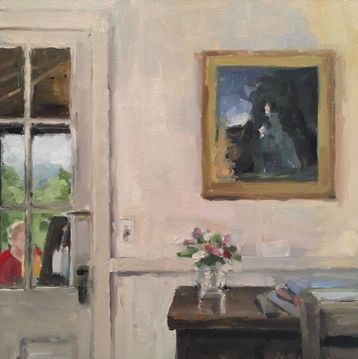 Jaffrey Cottage-View through porch