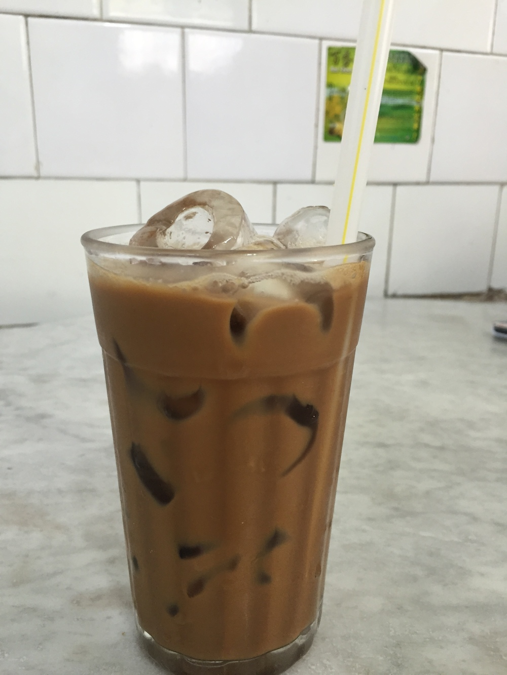 Nothing like a famous Ipoh milk tea after a long hot day outside :)