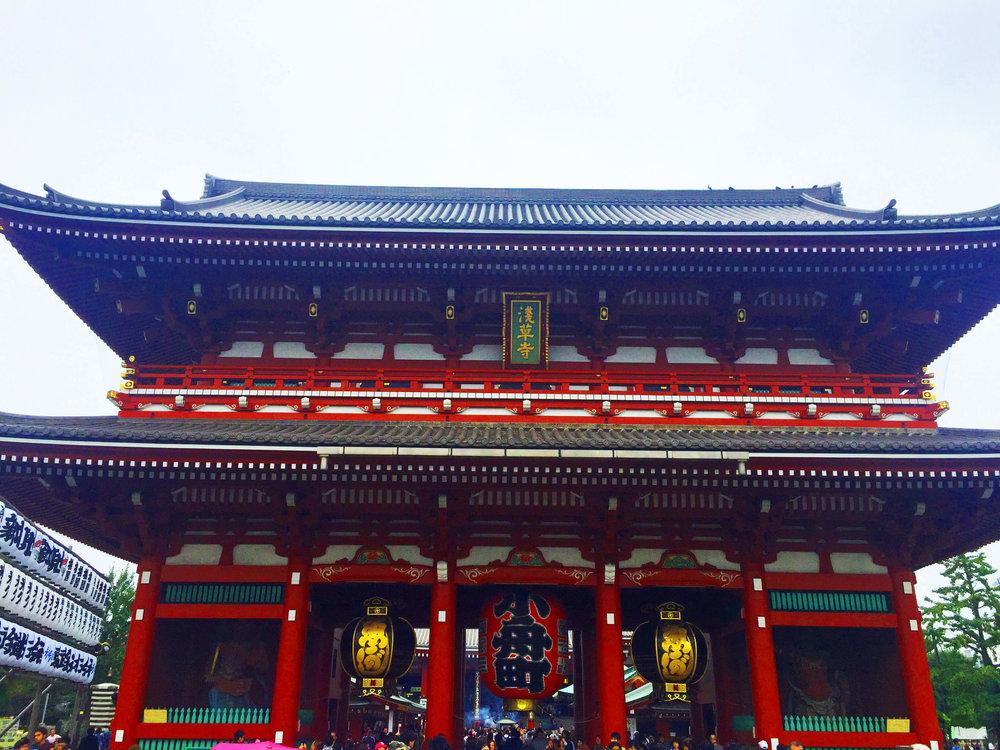 Hozomon on the way to Sensoji Temple
