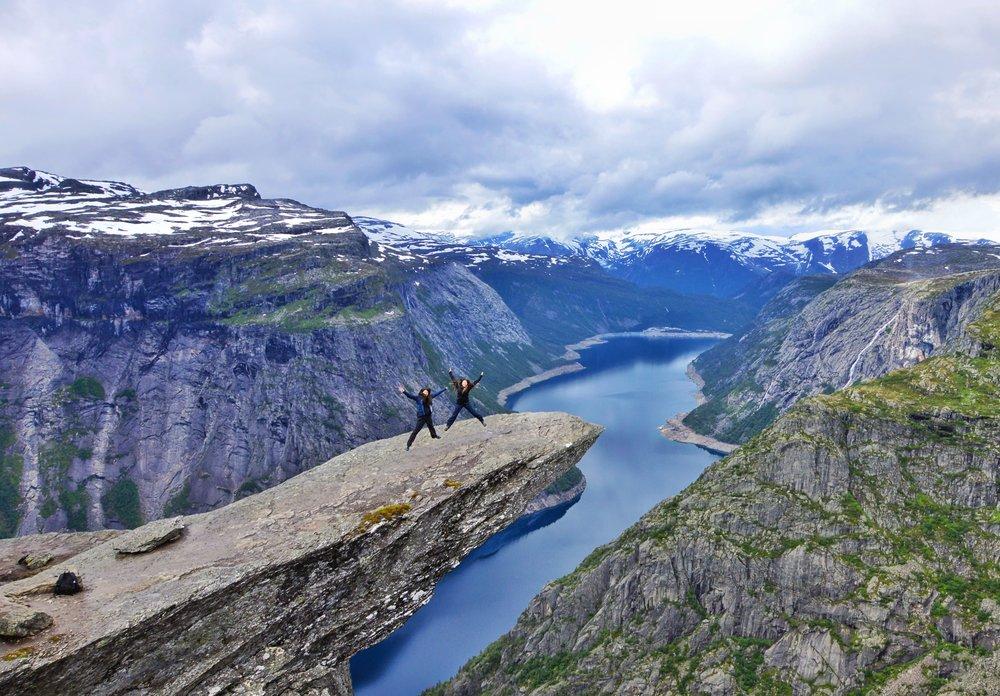 Hiking Trolltunga in western Norway