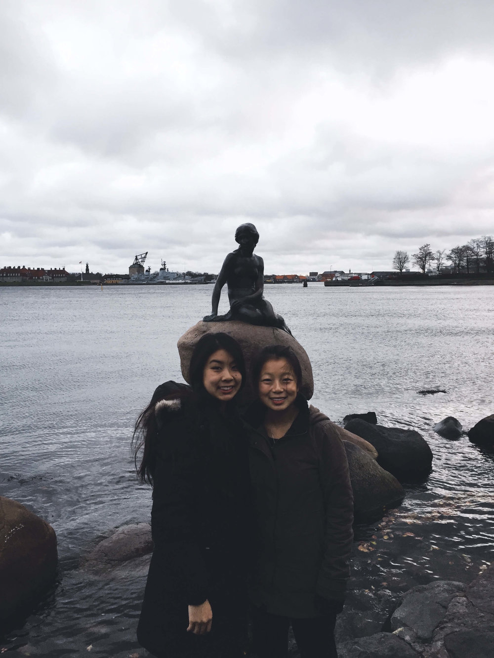 In front of the famous Little Mermaid in Copenhagen