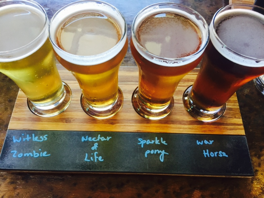 Flight at Black Hammer Brewing